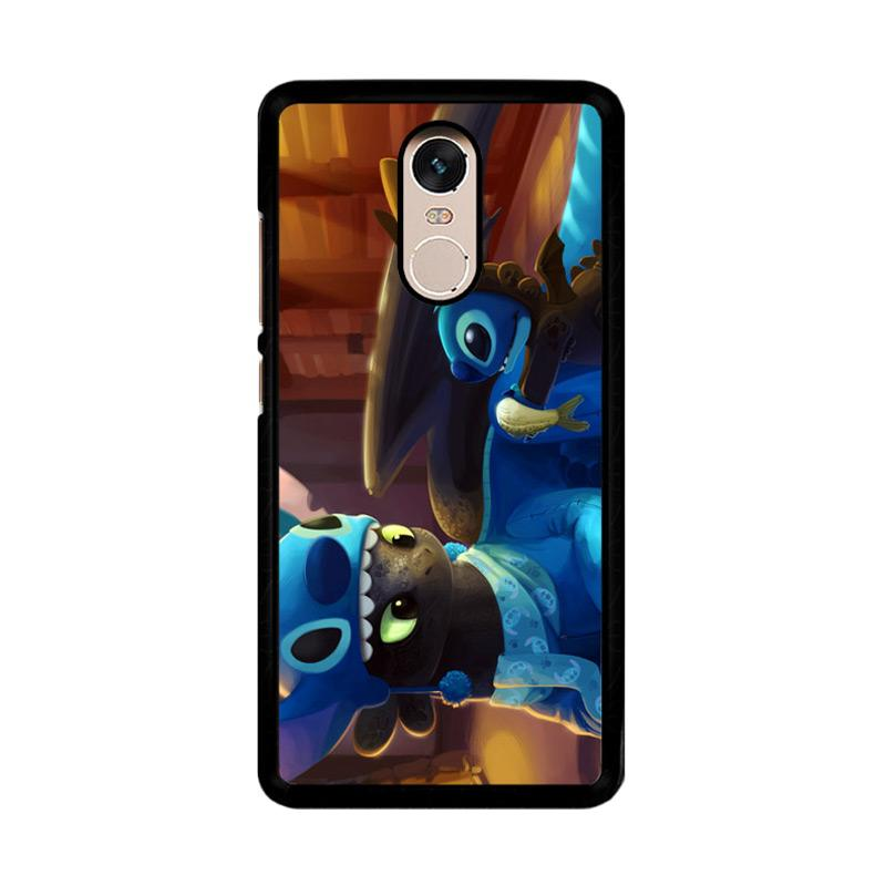 Flazzstore Toothless And Stitch Parody Z0364 Custom Casing for Xiaomi Redmi Note 4 or Note 4X Snapdragon Mediatek