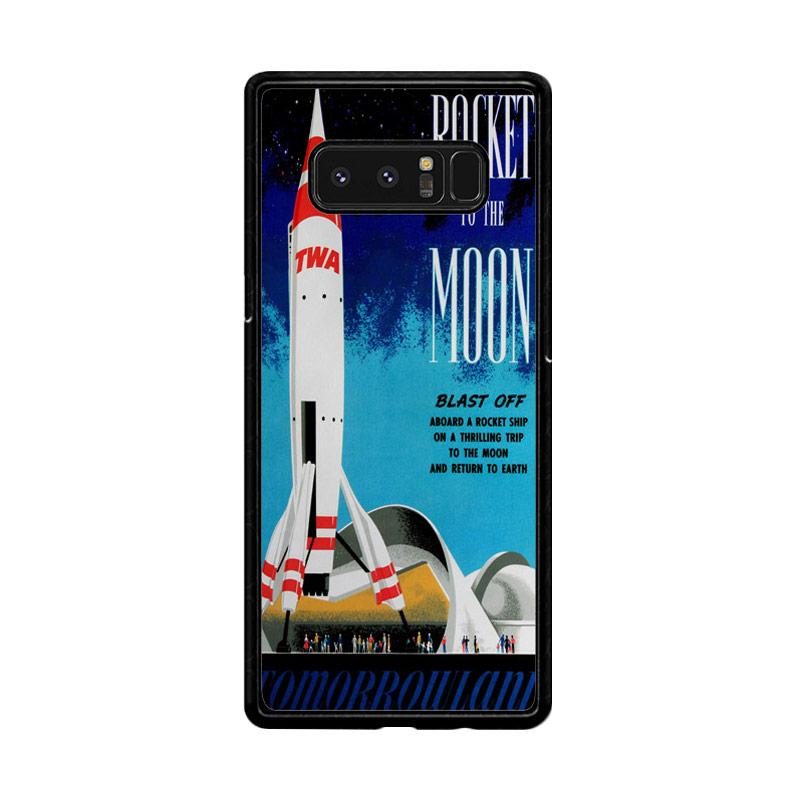 Flazzstore Disney Tomorrowland Rocket To The Moon Z0697 Custom Casing for Samsung Galaxy Note8