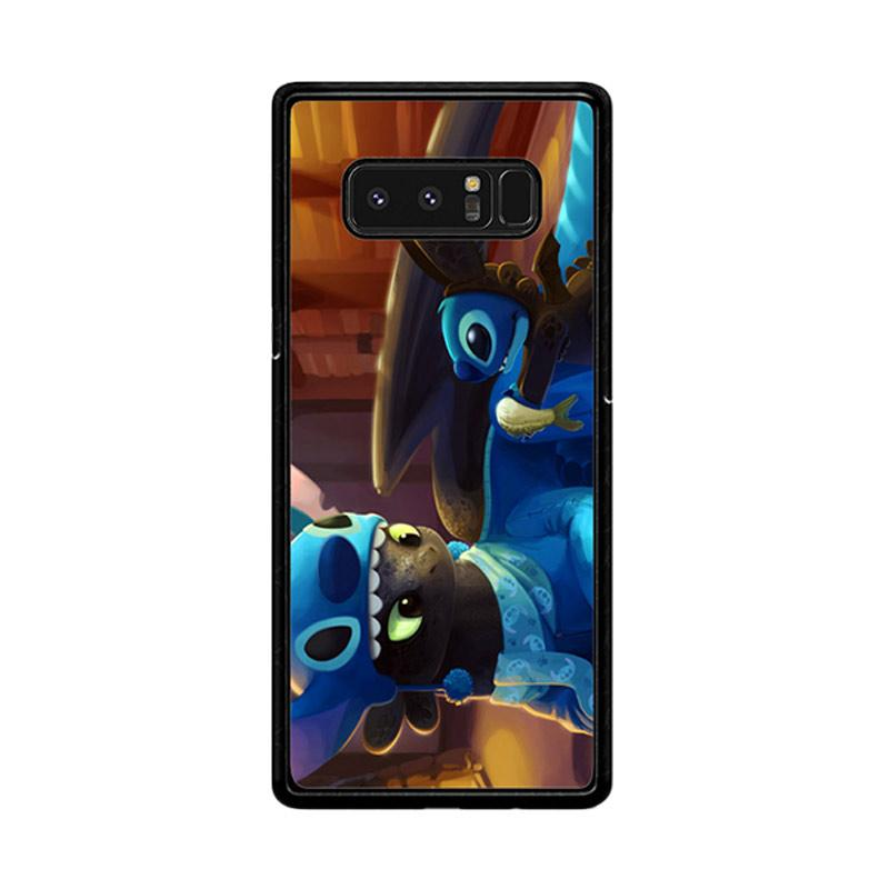 Flazzstore Toothless And Stitch Parody Z0364 Custom Casing for Samsung Galaxy Note8