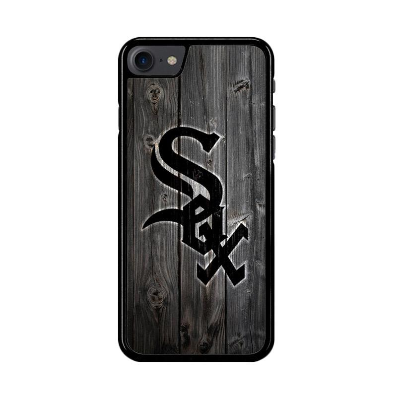 Flazzstore Chicago White Sox Wood Z4127 Custom Casing for iPhone 7 or 8