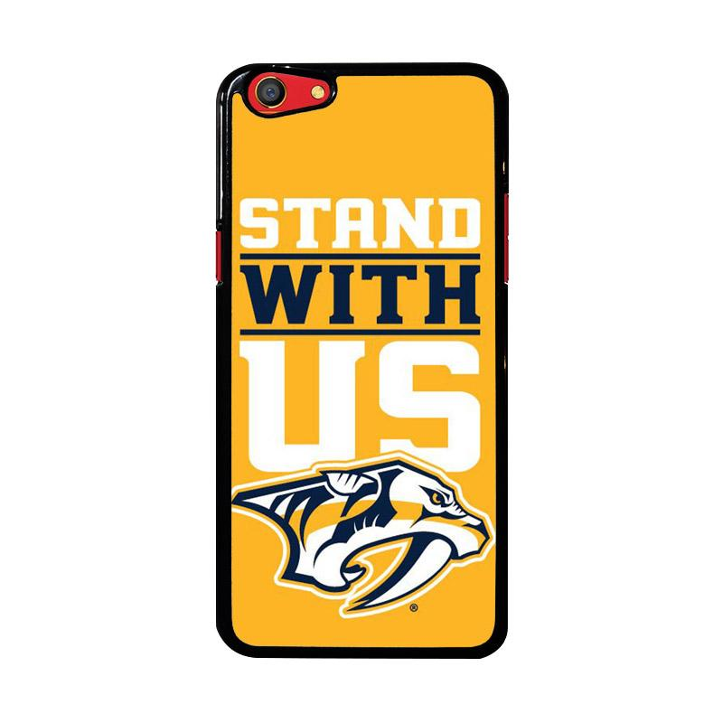 Flazzstore Nashville Predators Stand With Us Z4786 Custom Casing for Oppo F3