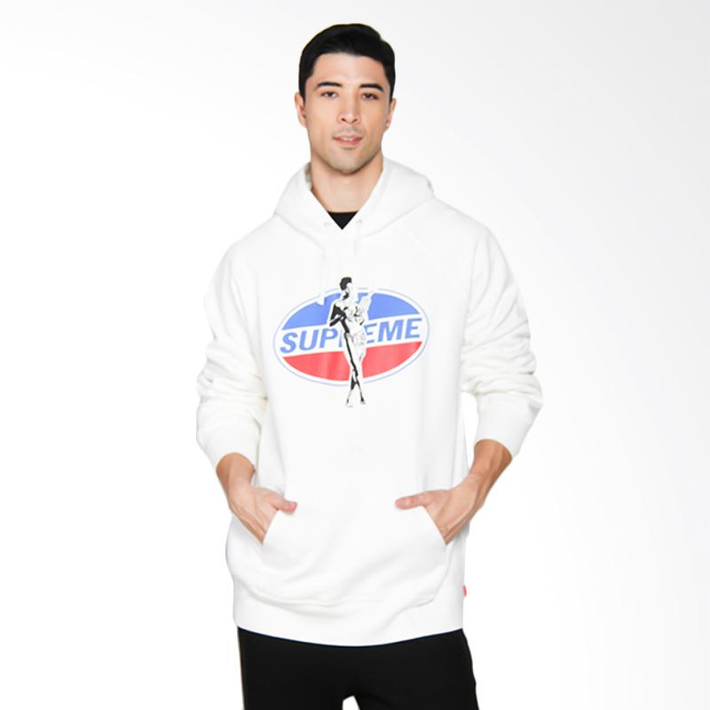 Supreme New York Hysteric Glamour Hooded Sweatshirt in White