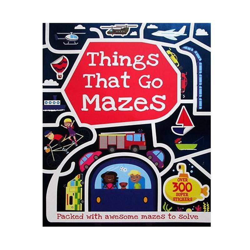 Genius Things That Go Mazes With Over 300 Super Stickers  Buku Anak