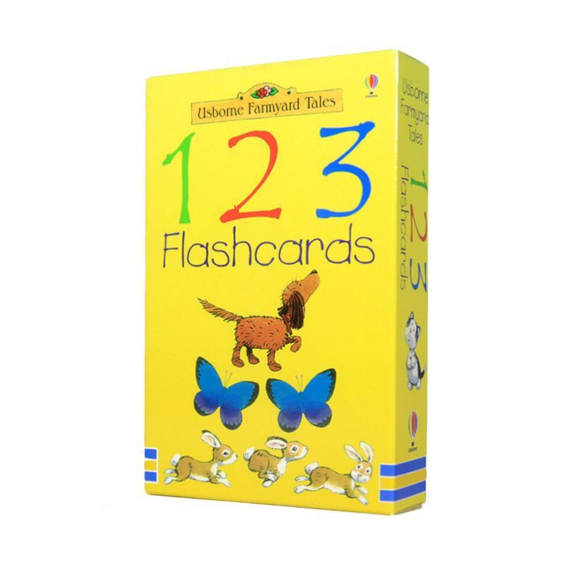 Usborne Books Farmyard Tales 123 Flashcards Buku Anak-anak