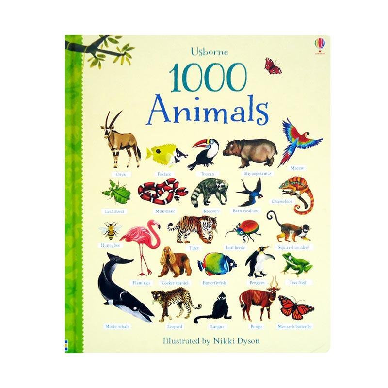 Genius Usborne 1000 Animals Buku Anak