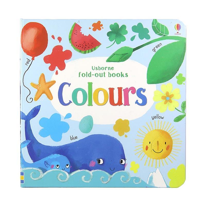 Usborne Books Colours Fold Out Book by Usborne Buku Edukasi Anak
