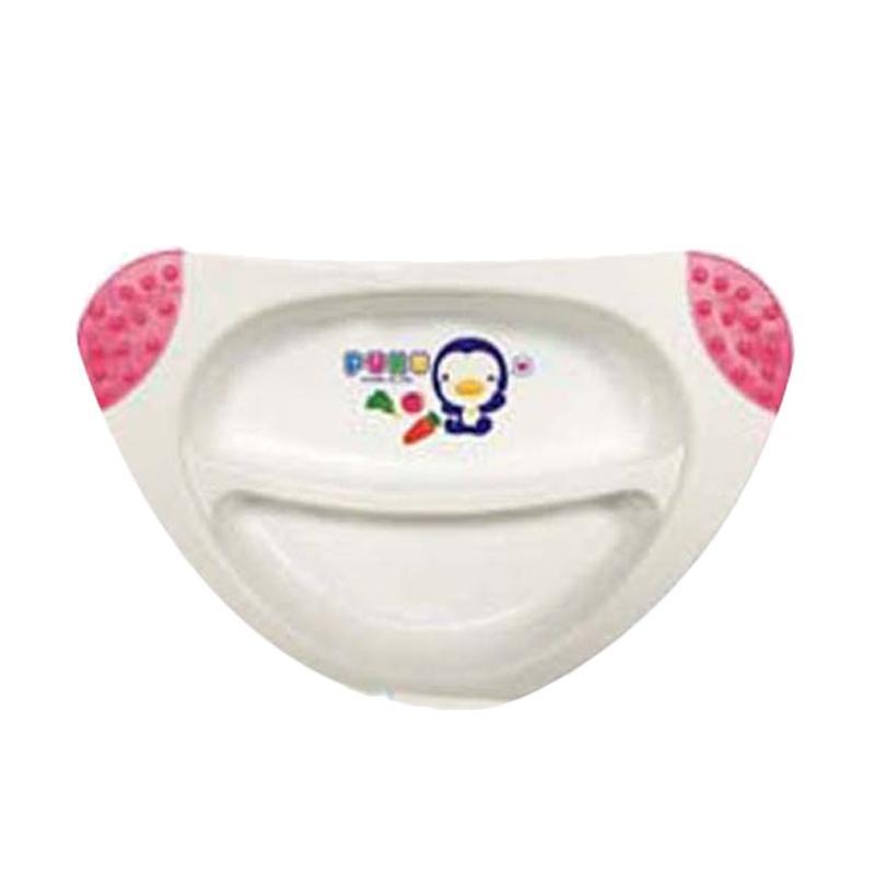 PUKU P14323 Divided Non Slip Skid Plate Peralatan Makan Anak - Pink