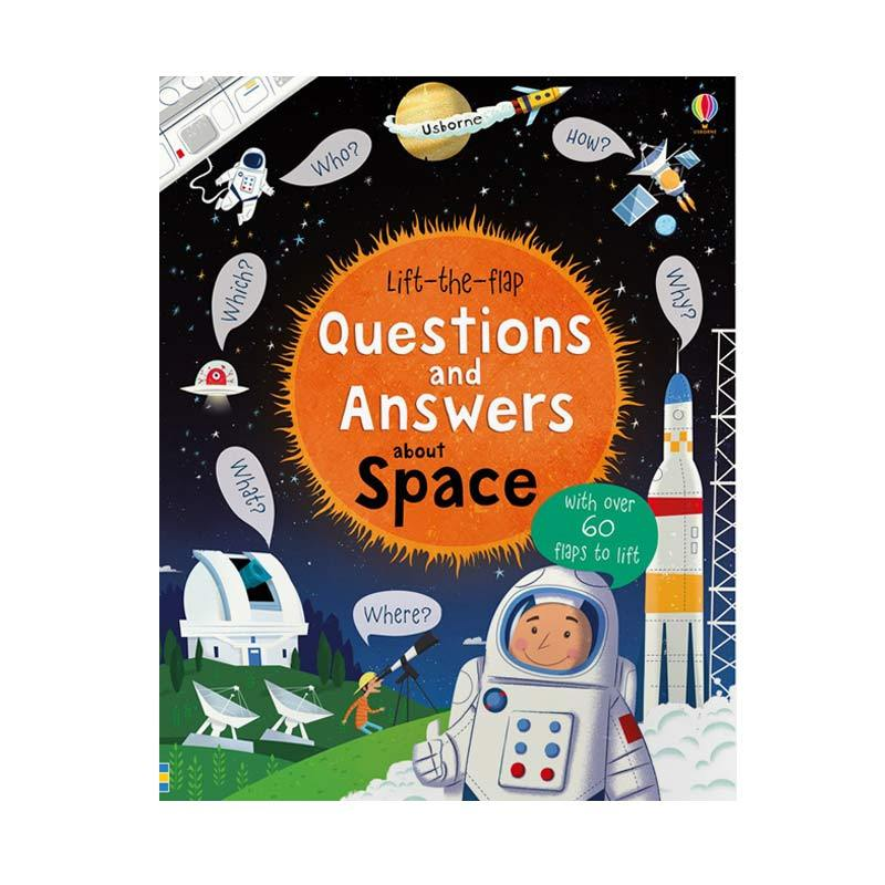 Genius Usborne Lift The Flap Questions and Answers About Space with Over 60 Flaps to Lift Buku Edukasi Anak