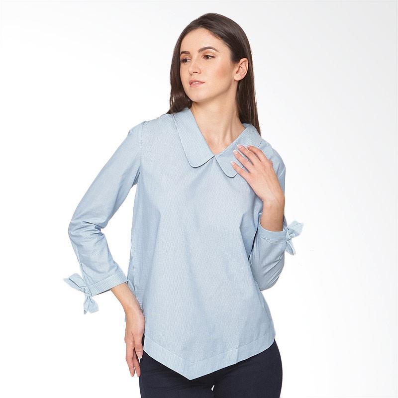 A&D Fashion MS 851 Ladies Blouse - Blue Stripe