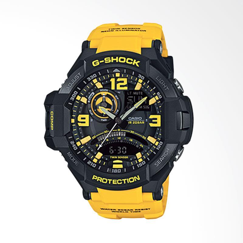 Jual CASIO G-Shock Dual Time Jam Tangan Pria - Yellow  GA-1000-9B  D52H2928YLHTM  Online - Harga   Kualitas Terjamin  0ee46138ee
