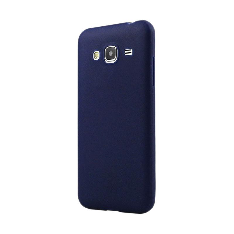 Lize Design Case Slim Anti Glare Silikon Casing for Samsung Galaxy J2 Prime - Biru Tua