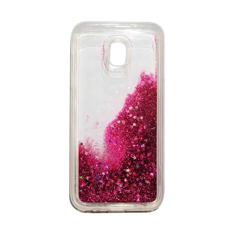 QCF Softcase Water Glitter Aquarium Silicone Casing for Samsung Galaxy J3 Pro 2017 / J330 Case Blink Blink - Pink Tua