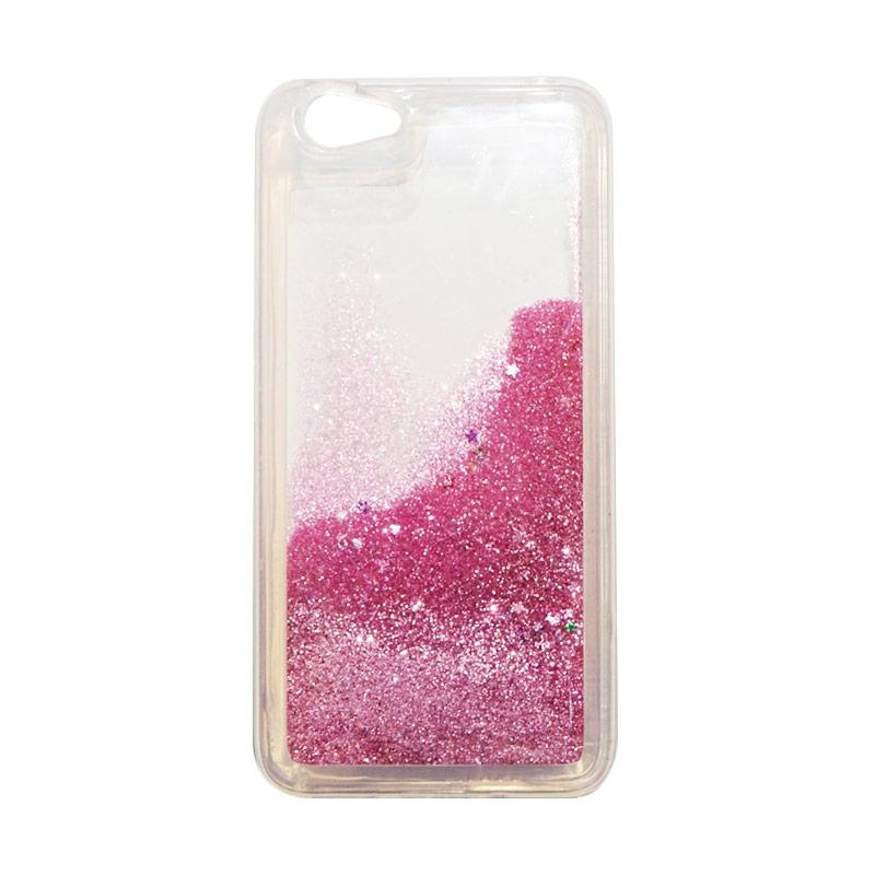 QCF Softcase Water Glitter Aquarium Silicone Casing for Vivo Y53 Case Blink Blink - Pink Muda