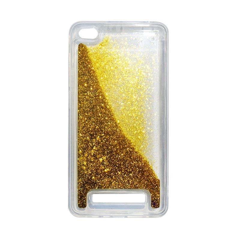 QCF Softcase Water Glitter Aquarium Silicone Casing for Xiaomi Redmi 4A Case Blink Blink - Gold