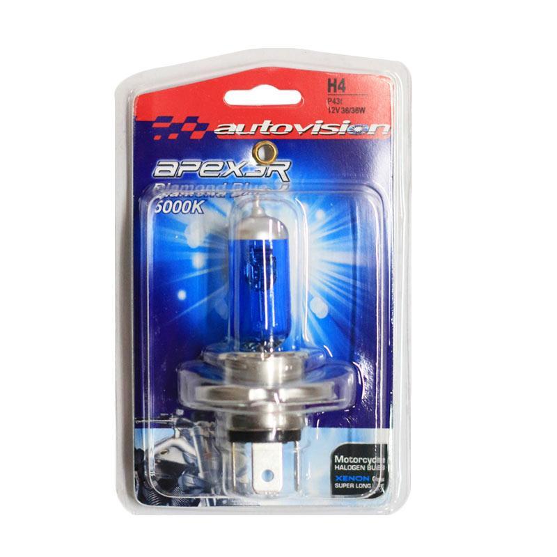 Autovision APEX MC H4 Lampu Halogen - Diamond Blue [12V 36/36W]