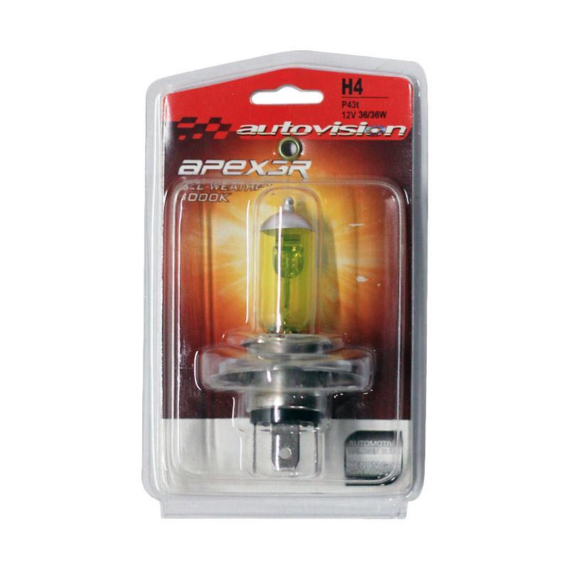 Autovision APEX MC H4 Lampu Halogen - All Weather [12V 36/36W]