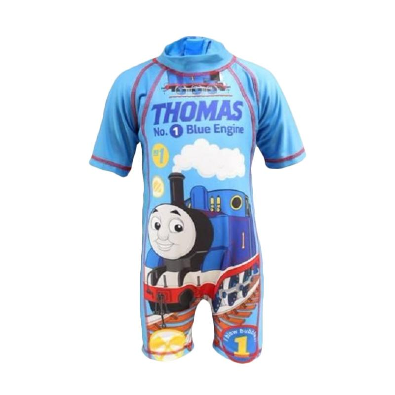 VERINA BABY Motif Thomas & Friend Swimsuit Baju Renang Anak - Biru