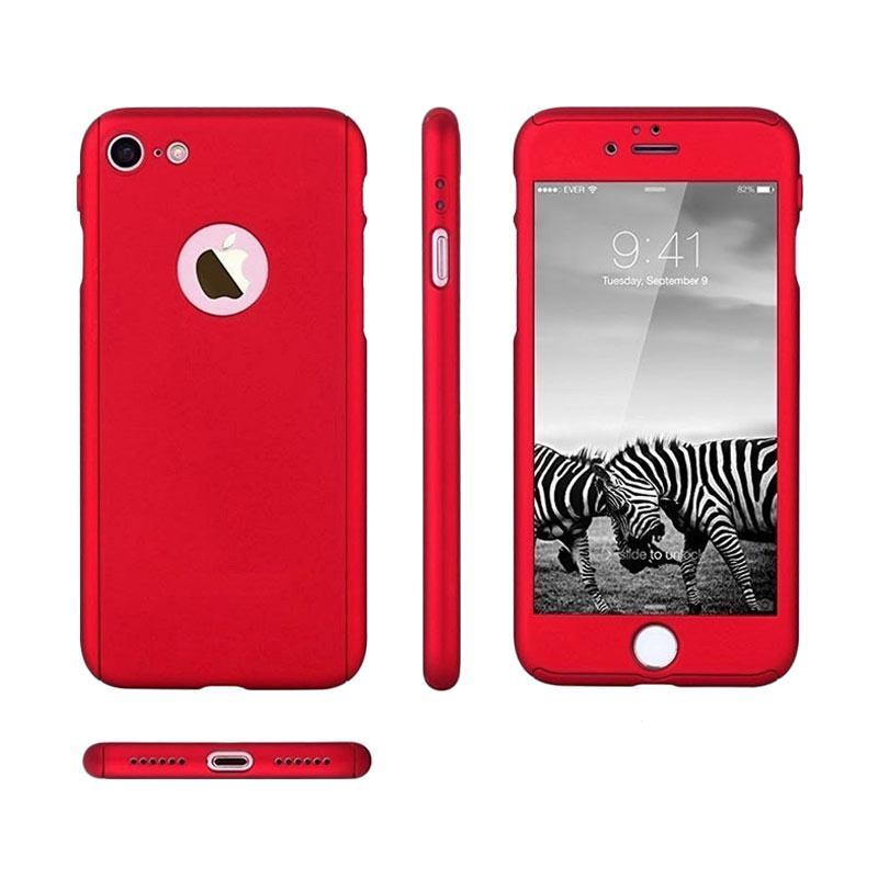 Jual Oem 360 Hardcase Casing For Iphone 7 Merah Free Tempered