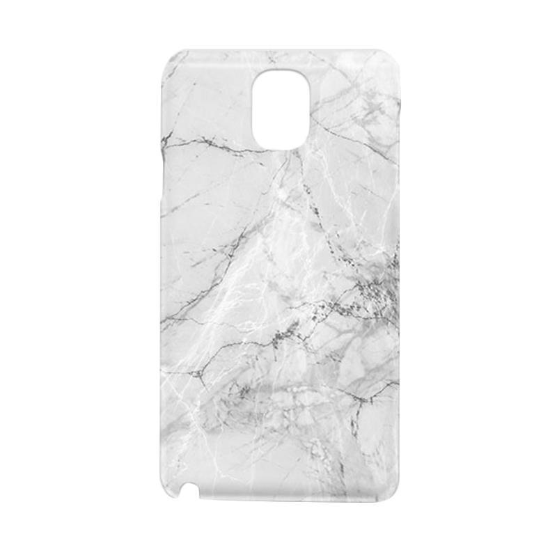 harga Premium Case White Grey Marble Granite Hardcase Casing for Samsung Galaxy Note 3 Blibli.com