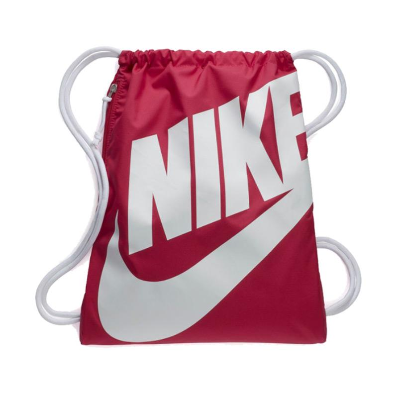 harga NIKE Heritage Gym Sack Backpack Tas Olahraga - Rush Pink [BA5351694] Blibli.com