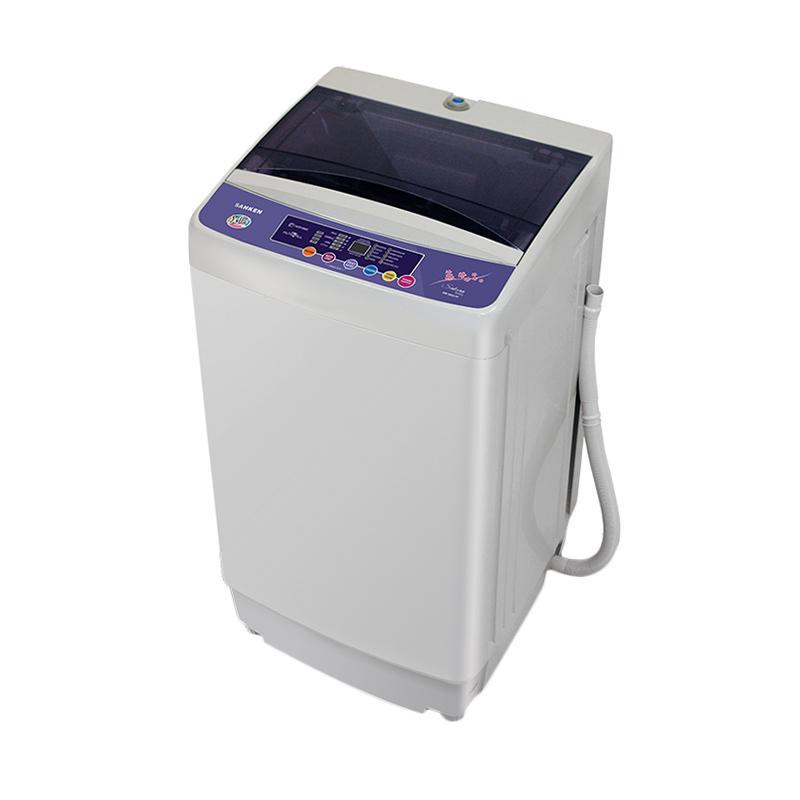 HICEH - Sanken AW-S866PP Mesin Cuci - Grey [Top Loading/7 kg]