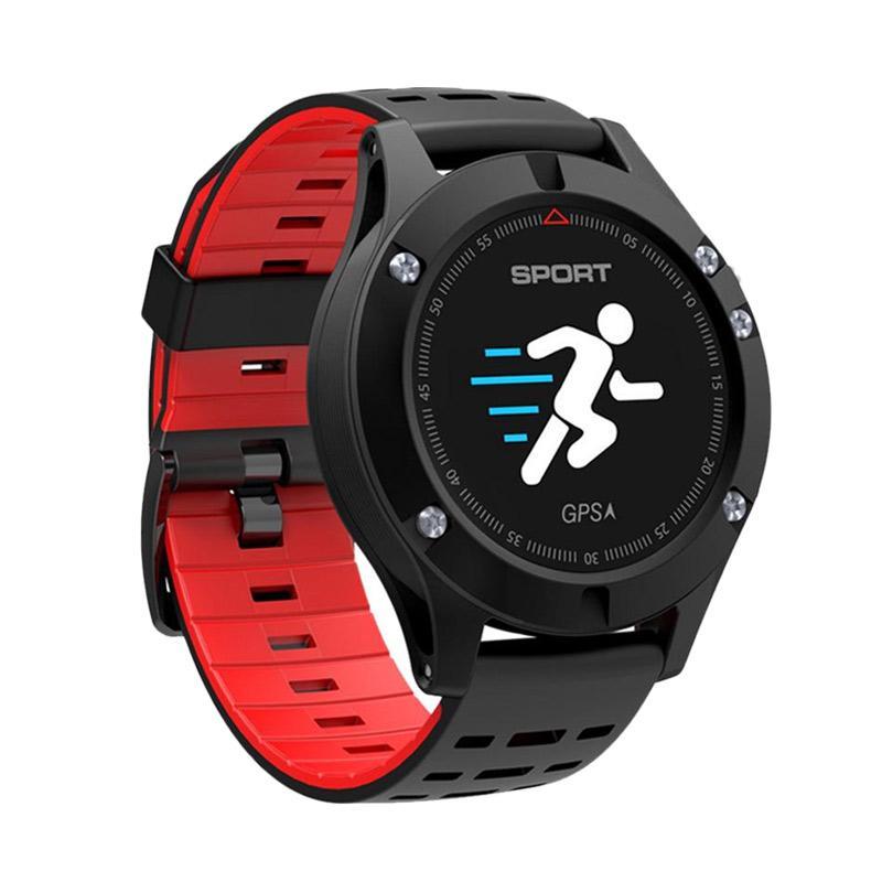 harga Cognos Smartwatch F5 DT NO.1 GPS Altimeter Barometer Thermometer Bluetooth 4.2 Smartwatch - Merah Blibli.com
