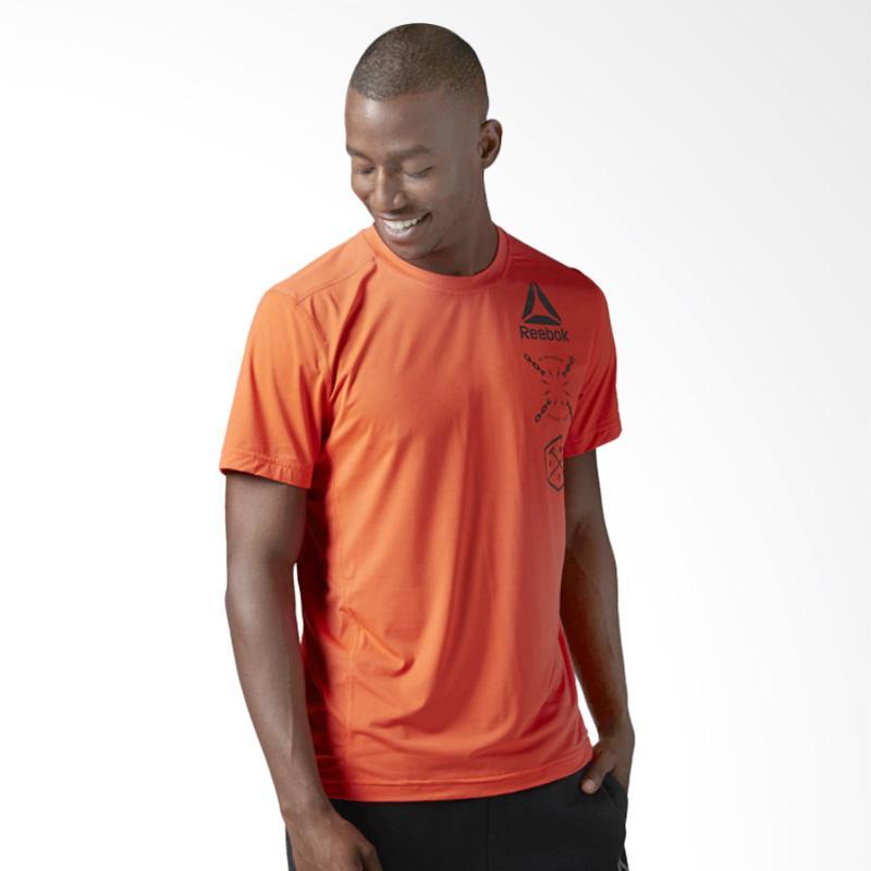 Reebok Activchill Graphic Men Top Pakaian Olahraga Pria - Nude Orange [BK3968]