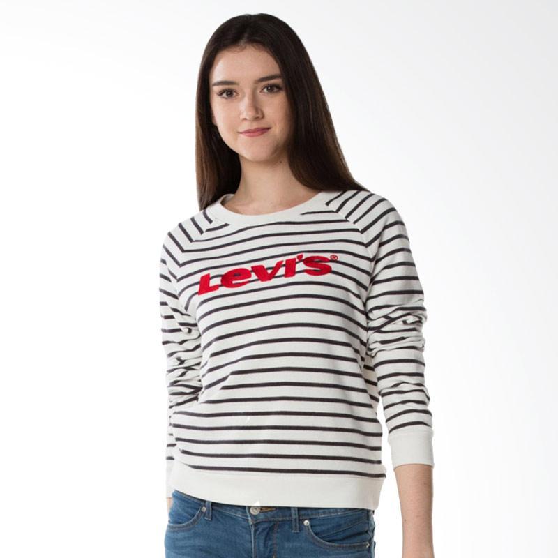 Levi's 34769-0007 Huntington Relaxed Crew Sweatshirt Sweater Wanita - Red Black White