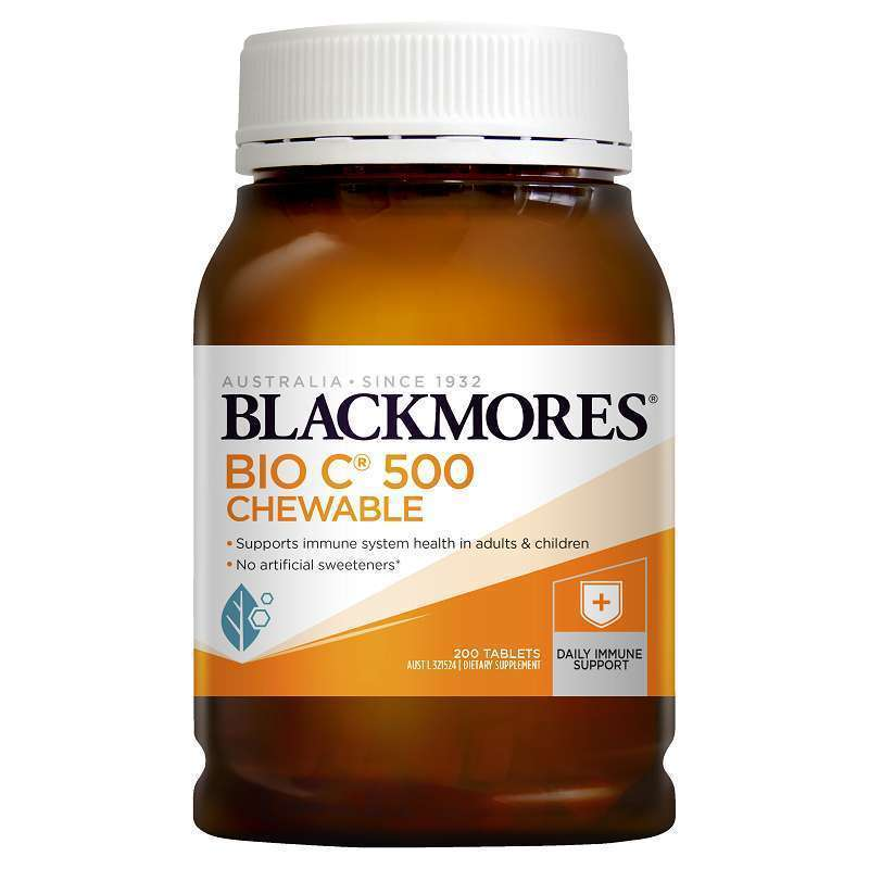 Blackmores Bio C Chewable 500mg [200 Tablet Kunyah] - PO 1 bulan