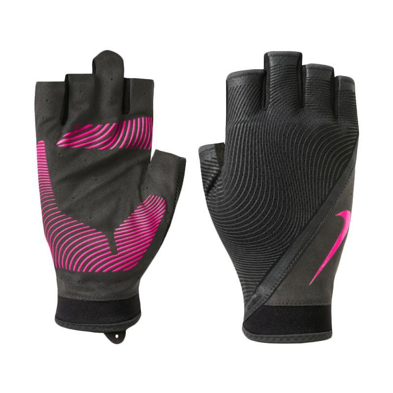 Nike Women's Havoc Training Gloves half Finger Sarung Tangan Olahraga - Black Pink [NLGB8098]