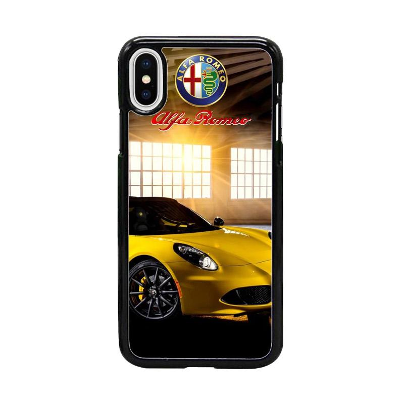 Acc Hp Yellow Alfa Romeo 4c Spider W4931 Custom Casing for iPhone X