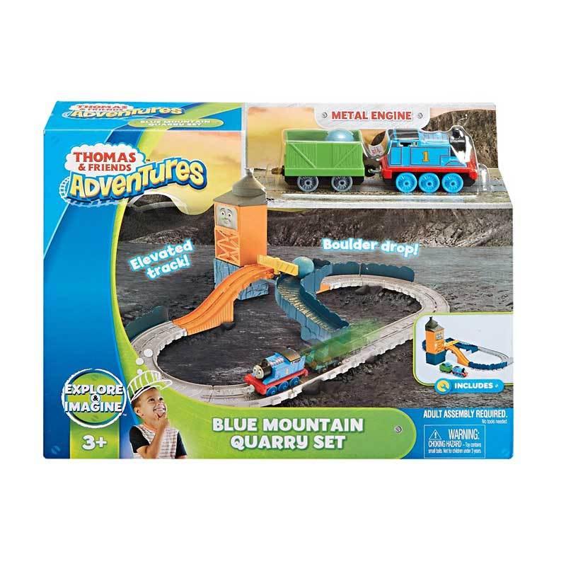 Fisher Price Thomas & Friends Adventures Blue Mountain Quarry Set Mainan Anak