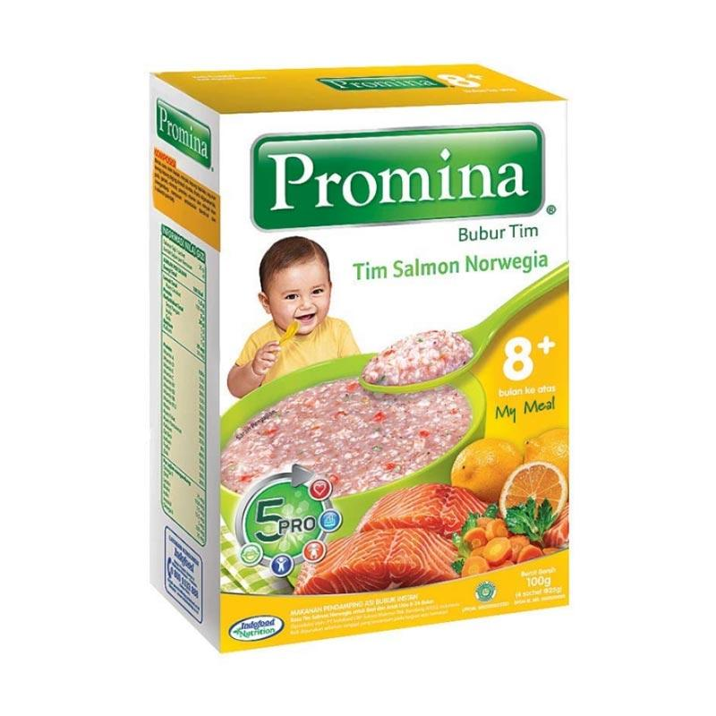 harga Promina Bubur Tim 8 Salmon Norwegia Makanan Bayi [100 g] Blibli.com