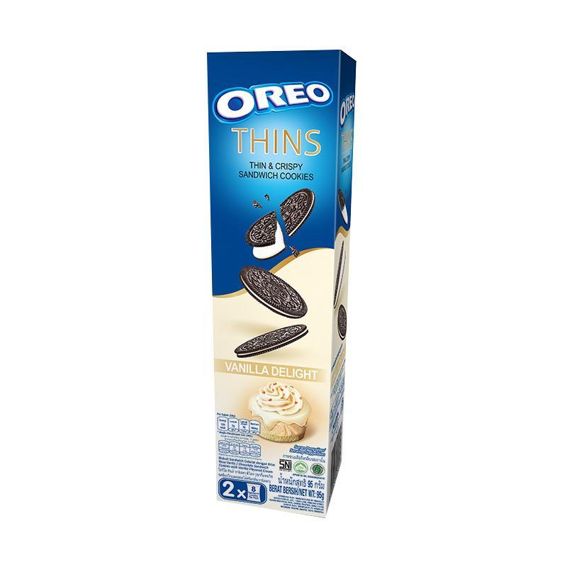 harga Oreo Thins Vanilla Delight Biskuit [95 g] Blibli.com