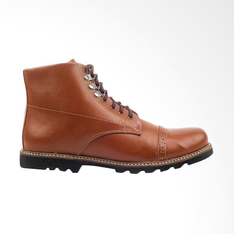 Jual Giant Flames Erdogan Kulit Sepatu Boots Pria - Brown Online - Harga    Kualitas Terjamin  4cd79a307d
