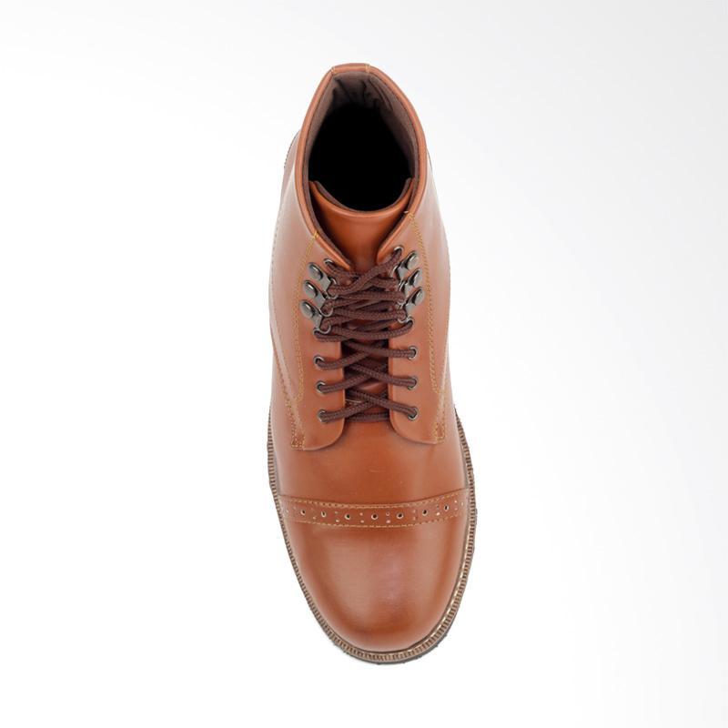 Jual Giant Flames Erdogan Kulit Sepatu Boots Pria - Brown Online ... 0f113a436f