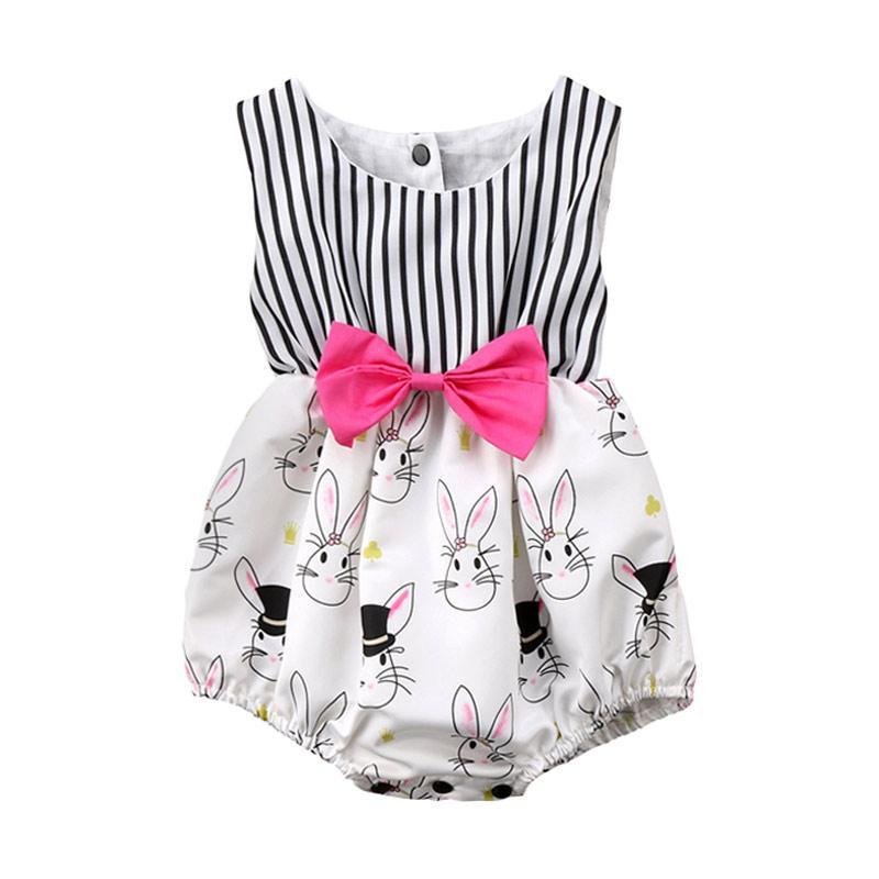 Abby Baby Easter Bunny Romper Baju Jumsuit - Multicolor