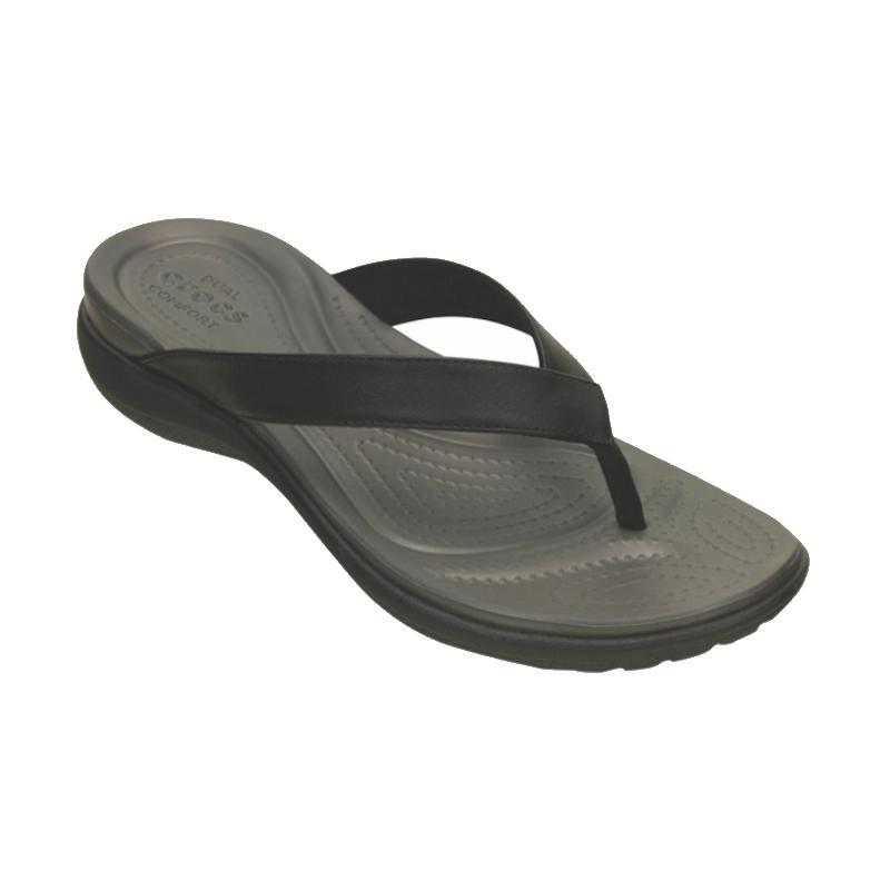 harga Crocs Capri V Flip Women Sandal Olahraga Wanita - Grey Black [20250202S] Blibli.com