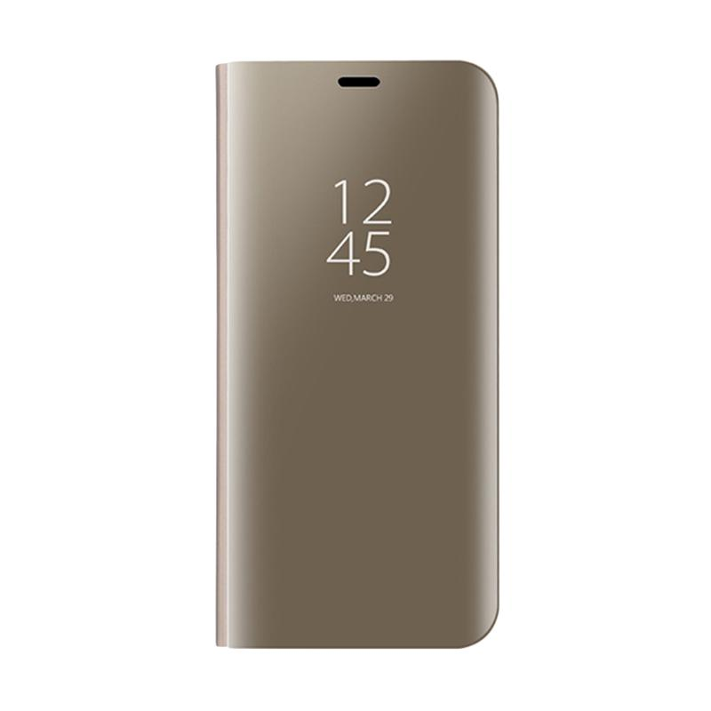 quality design 39e0d 579eb OEM Clear View Standing Flip Cover Casing for Samsung Galaxy A5 2017- Gold