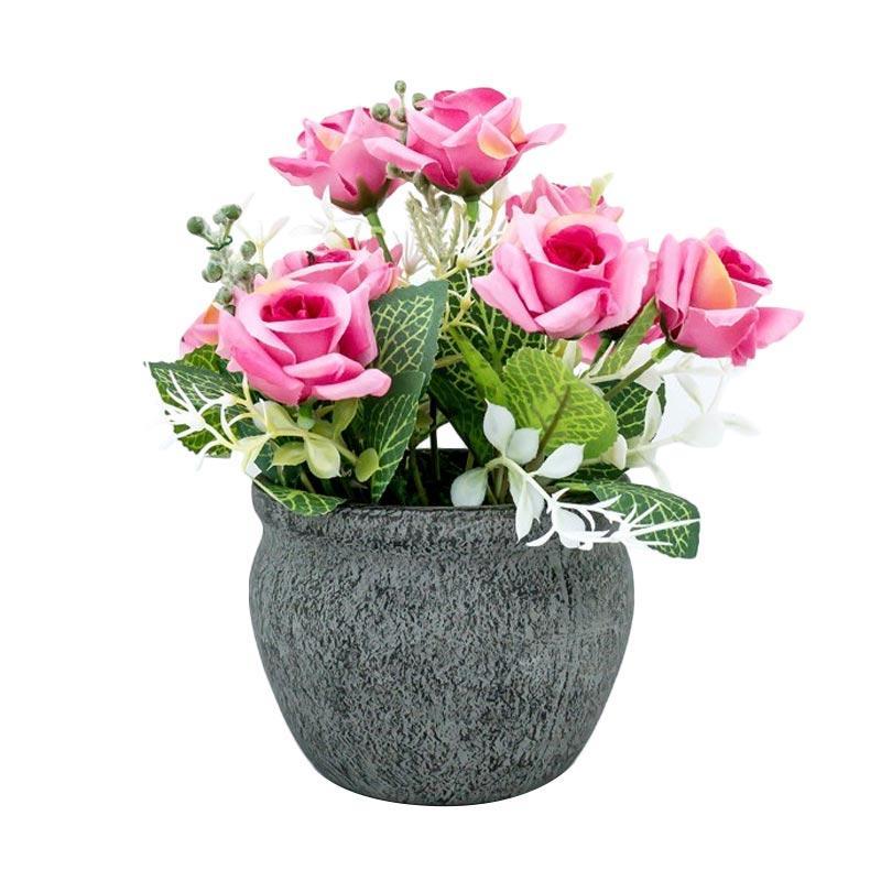 Jual Asna Dlp3583 3 Bunga Mawar Artifisial With Pot Online November 2020 Blibli Com