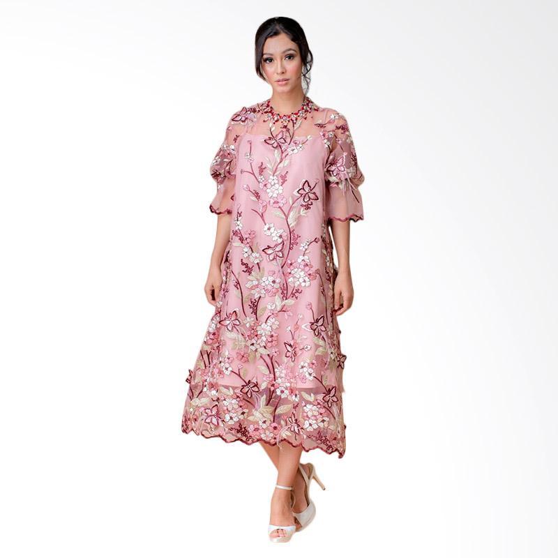 Andhita By Andhita Siswandi Primrose Midi Dress Pink
