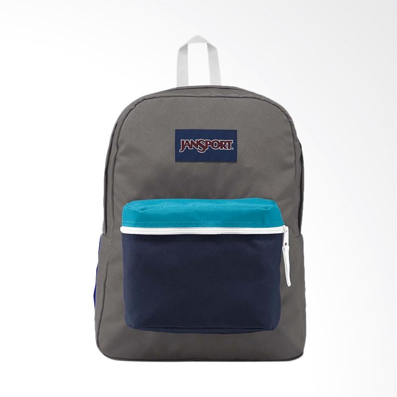 Jansport LBJEX3C4X3J4 Exposed Shady Backpack Tas Wanita - Grey White f1cf1a5768