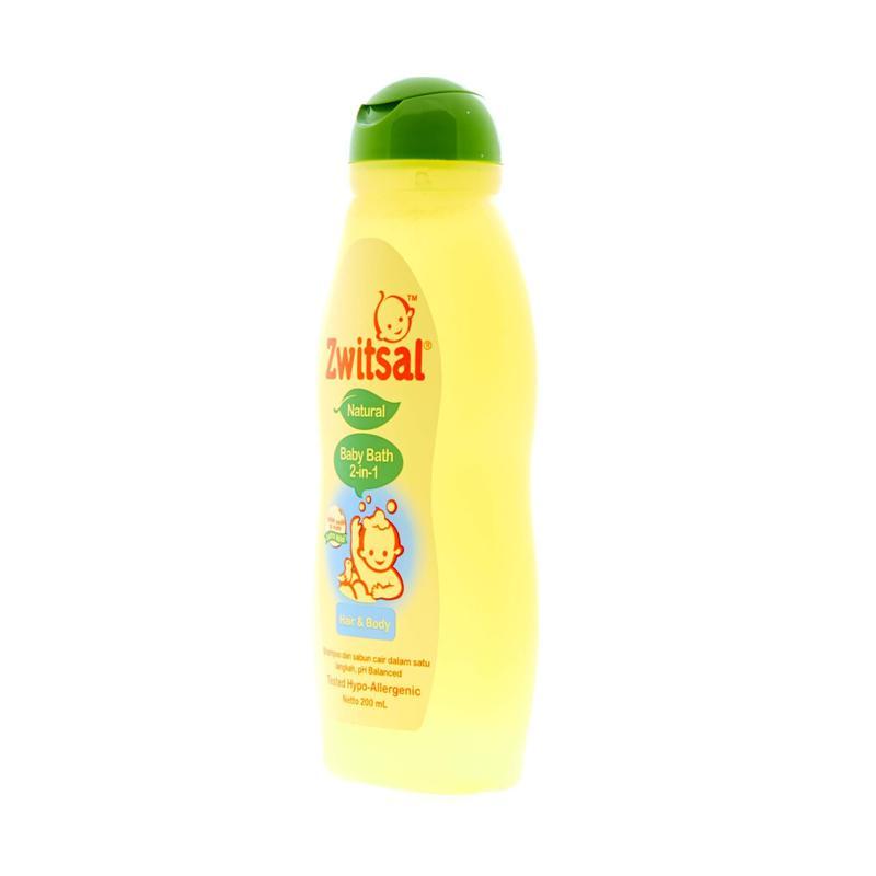 Jual Zwitsal Natural Baby Bath 2in1 Hair & Body [200 mL] Online - Harga & Kualitas Terjamin   Blibli.com