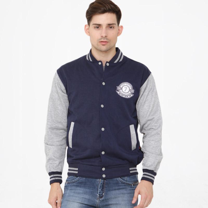 JAVA SEVEN Sweater Pria - Biru Kom [HJS 964]