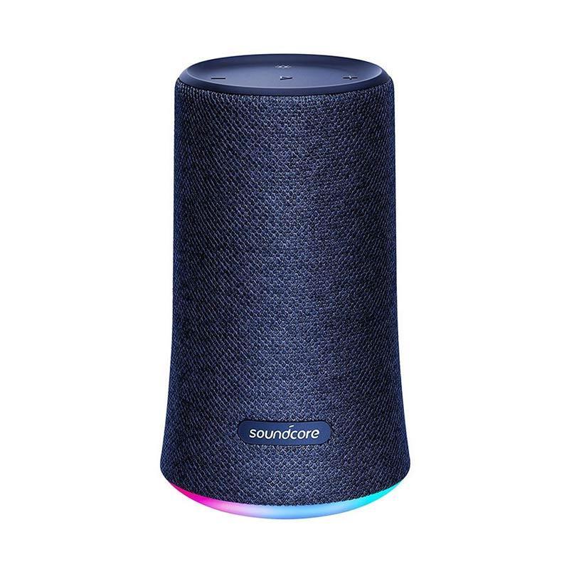 Anker Soundcore Flare Portable Wireless Bluetooth Speaker Blue w LED Lights IPX7
