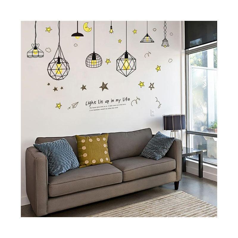 Bluelans Modern Star Moon Wallpaper Background Baby Room Home Office Wall Sticker Decor