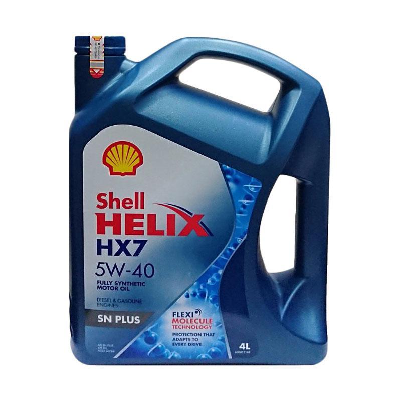 Jual Shell Helix Hx7 5w 40 Oli Mobil 4 Liter Online Februari 2021 Blibli