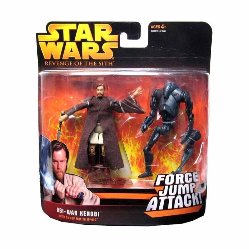 Jual Hasbro Star Wars Revenge Of The Sith Obi Wan Kenobi With Super Battle Droid Action Figure Online Juli 2020 Blibli Com
