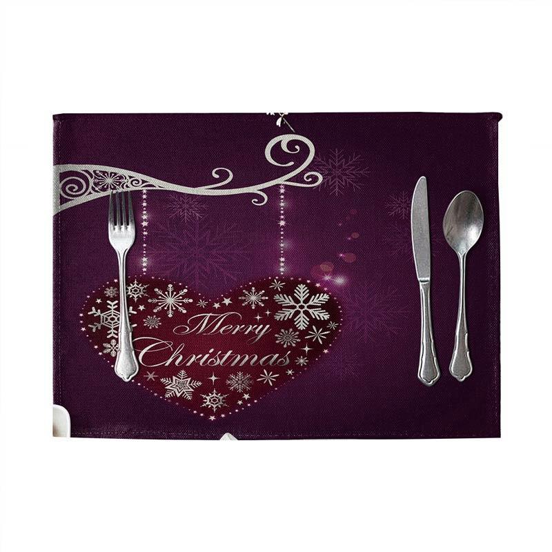 Jual Christmas Fashion Dining Table Linen Heat Insulation Mat Placemat Kitchen Decor 5 Online November 2020 Blibli