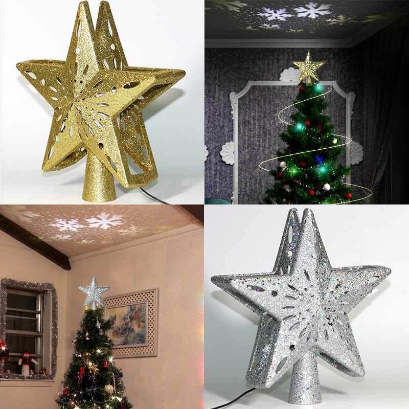 Jual Eds Glittered Star Tree Top Light Hanging 3d Christmas Rotating Projector Lamp Indoor Holiday Decorative Lighting Plug British Standard Online November 2020 Blibli Com